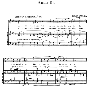 Amarilli,, Medium-High Voice in G minor, G. Caccini. For Soprano, Tenor. Edited by Horatio Parker. J. Church Publ. (1912) | eBooks | Sheet Music