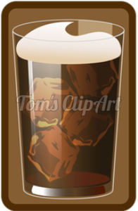 toms clipart - iced coffee
