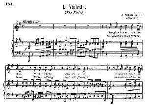 Le violette, Medium Voice in G Major, G. Giordani. For Soprano, Tenor. Song Classics, Edited by Horatio Parker. J. Church Publ. (1912) | eBooks | Sheet Music