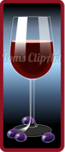 toms clipart - glass of wine