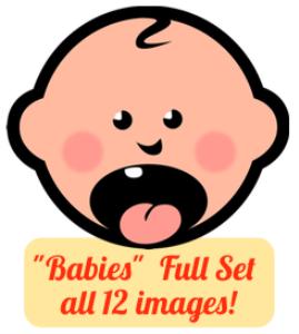 toms clipart - babies set