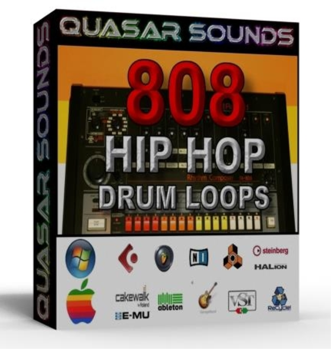 First Additional product image for - 808 Hip Hop Drum Loops And Construction Kit 80 Bpm – Wave -