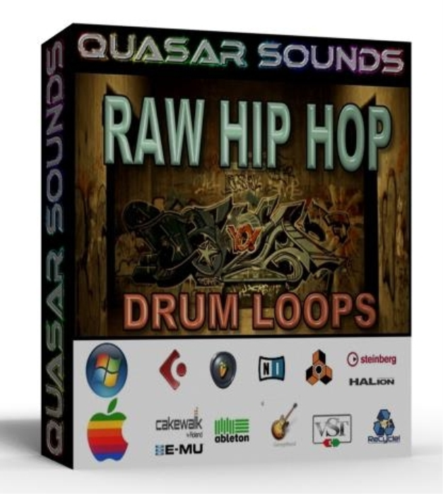 First Additional product image for - Raw Hip Hop Drum Loops 80 Bpm + Wave / Midi +