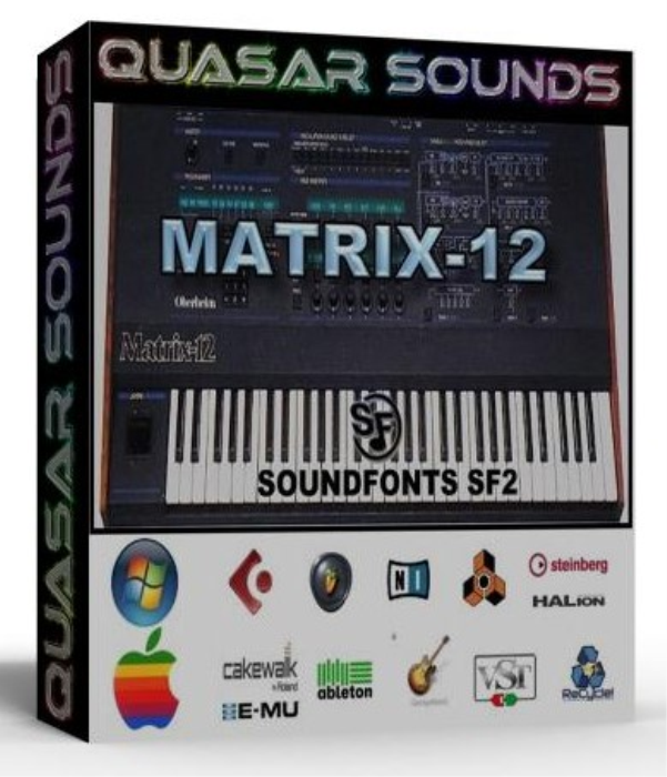 First Additional product image for - Oberheim Matrix 12 Samples Wave Kontakt Reason Logic Halion
