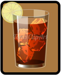 toms clipart - iced tea 01