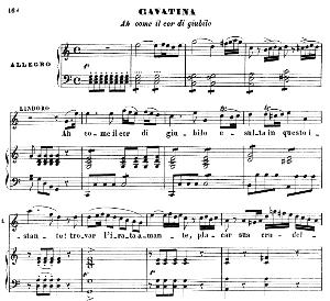 Ah come il cor di giubilo. Cavatina for Tenor (Lindoro). G. Rossini: L'italiana in Algeri, Vocal Score. Ed. Ricordi. 1891, italian.   eBooks   Sheet Music