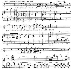Astro sereno brilli di gioia. Aria for Tenor (Conte). G. Rossini: Il conte Ory, Vocal Score. Ed. Ricordi. 1870, italian   eBooks   Sheet Music