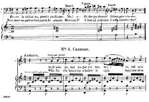 Se il mio nome saper. Aria for Tenor (Count). G. Rossini: Il barbiere di siviglia (The barber of Seville), Vocal Score. Ed. Schirmer, 1900 , it-engl. | eBooks | Sheet Music