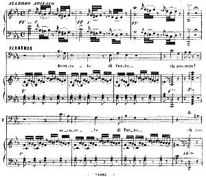 Accusata di furto. Aria for Bass (Fernando). G. Rossini: La gazza ladra (The thieving Magpie), Vocal Score. Ed. Ricordi. 1878 (PD). Italian.   eBooks   Sheet Music