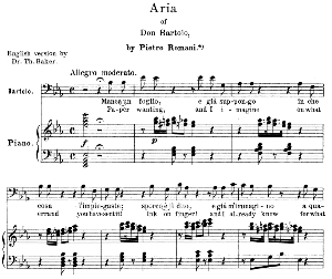 Manca un foglio e gia suppongo.  Aria for Bass (Bartolo). G. Rossini: il barbiere di siviglia (The barber of Seville), Vocal Score (it/engl. Ed. Schirmer (1900) | eBooks | Sheet Music