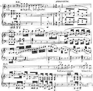 Vegliar mai sempre. Aria for Bass (Ajo). G. Rossini: Il conte Ory (Le comte Ory), Vocal Score (italian). Ed. Ricordi (1870). | eBooks | Sheet Music