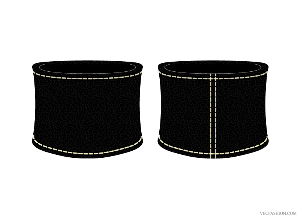 vf152-black leather wristband vector template