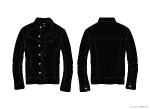 vf155-mens black leather jacket vector template