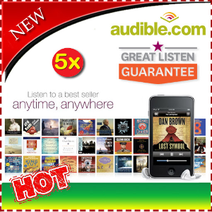 5x audible gift credit for any 5 audiobook of your choice