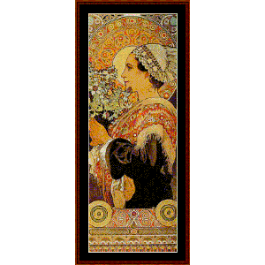 Thistle from the Sands - Mucha cross stitch pattern by Cross Stitch Collectibles | Crafting | Cross-Stitch | Wall Hangings