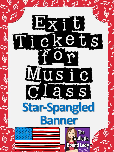 Exit Tickets-STAR SPANGLED BANNER | Other Files | Everything Else
