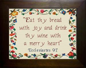 Thy Bread with Joy | Crafting | Cross-Stitch | Religious