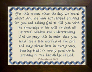 Growing in the Knowledge of God | Crafting | Cross-Stitch | Religious