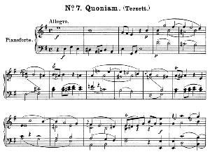 No.7 Quoniam: Solo Trio Soprano, Mezzo, Tenor, and Piano. Great Mass in C Minor K.427, W.A. Mozart. Vocal Score (Alois Schmitt) Ed. Breitkopf (1901). Latin.   eBooks   Sheet Music