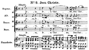 No.8 Jesu Christe & Cum sancto spiritu: Choir SATB and Piano. Great Mass in C Minor K.427, W.A. Mozart. Vocal Score (Alois Schmitt) Ed. Breitkopf (1901). Latin. | eBooks | Sheet Music