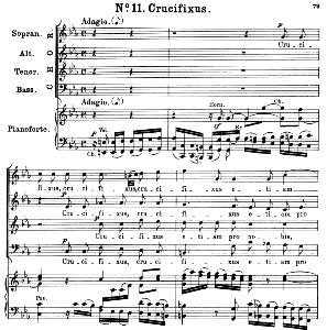 No.11 Crucifixus: Choir SATB and Piano. Great Mass in C Minor K.427, W.A. Mozart. Vocal Score (Alois Schmitt) Ed. Breitkopf (1901). Latin. | eBooks | Sheet Music