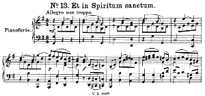 No.13 Et in Spiritum sanctum: Tenor Solo, Choir SATB and Piano. Great Mass in C Minor K.427, W.A. Mozart. Vocal Score (Alois Schmitt) Ed. Breitkopf (1901). Latin. | eBooks | Sheet Music