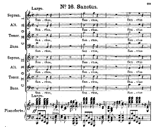 No.16 Sanctus & Hosanna: Double Choir SATB and Piano. Great Mass in C Minor, K. 427, W.A. Mozart. Vocal Score (Alois Schmitt) Ed. Breitkopf (1901). Latin. | eBooks | Sheet Music