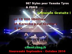967 styles tyros 3/4/5 & psr/s+19000 midifiles ge