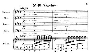No.10 Sanctus: Choir SATB and Piano. Requiem K.626, W.A. Mozart. Vocal Score (Friedrich Brissler), Ed. Peters (1895). Latin. | eBooks | Sheet Music