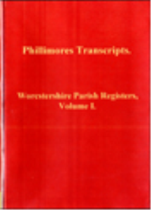 worcstershire parish registers, volume i.