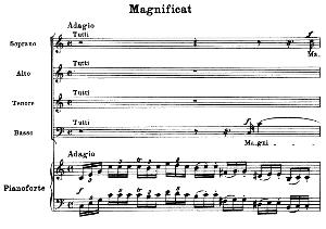 No.6 Magnificat: Solo Quartet SATB, Choir SATB and Piano. Vesperae solennes de confessore K.339, W.A. Mozart. Vocal Score (J.A. Fuller Maitland) Ed. Breitkopf (1896). Latin. | eBooks | Sheet Music