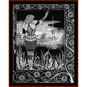Excalibur in the Lake - Beadsley cross stitch pattern by Cross Stitch Collectibles | Crafting | Cross-Stitch | Wall Hangings