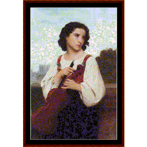 Alone in the World - Bouguereau cross stitch pattern by Cross Stitch Collectibles | Crafting | Cross-Stitch | Wall Hangings