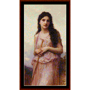 Meditation, 1902 - Bouguereau cross stitch pattern by Cross Stitch Collectibles | Crafting | Cross-Stitch | Wall Hangings