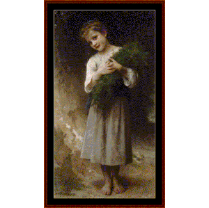 Back Fields, 1898 - Bouguereau cross stitch pattern by Cross Stitch Collectibles | Crafting | Cross-Stitch | Other