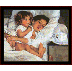 Breakfast in Bed, 1897 | Crafting | Cross-Stitch | Wall Hangings