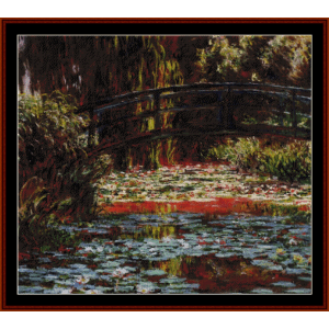 The Japanese Bridge, IV - Monet cross stitch pattern by Cross Stitch Collectibles | Crafting | Cross-Stitch | Wall Hangings