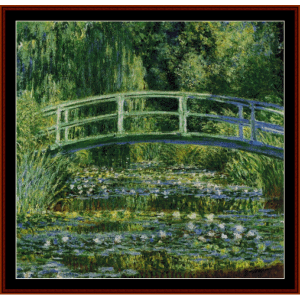 The Japanese Bridge, 1899 - Monet cross stitch pattern by Cross Stitch Collectibles | Crafting | Cross-Stitch | Wall Hangings