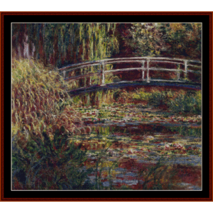 The Japanese Bridge V - Monet cross stitch pattern by Cross Stitch Collectibles | Crafting | Cross-Stitch | Wall Hangings