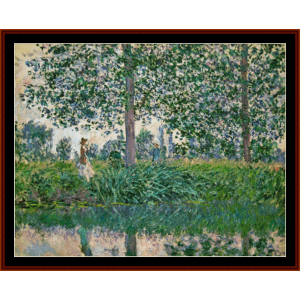 Fishing on the River Epte - Monet cross stitch pattern by Cross Stitch Collectibles | Crafting | Cross-Stitch | Wall Hangings