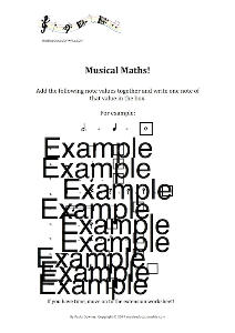 musical maths worksheet