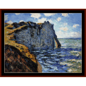 the manneport - monet cross stitch pattern by cross stitch collectibles