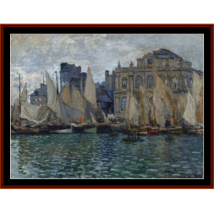 View of le Havre, 1873 - Monet cross stitch pattern by Cross Stitch Collectibles | Crafting | Cross-Stitch | Wall Hangings