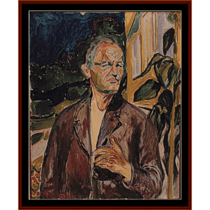 Self Portrait, 1926 - Munch cross stitch pattern by Cross Stitch Collectibles | Crafting | Cross-Stitch | Wall Hangings