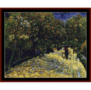 Ave. of Flowering Chestnut Trees - Van Gogh cross stitch pattern by Cross Stitch Collectibles | Crafting | Cross-Stitch | Wall Hangings