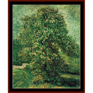 Chestnut Tree in Bloom, 1887 - Van Gogh cross stitch pattern by Cross Stitch Collectibles | Crafting | Cross-Stitch | Wall Hangings