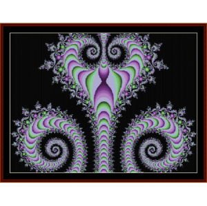Fractal 464 cross stitch pattern by Cross Stitch Collectibles | Crafting | Cross-Stitch | Wall Hangings