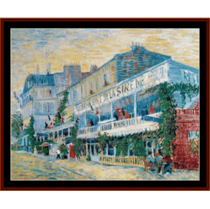 Restaurant de la Sirene at Asnieres - Van Gogh by Cross Stitch Collectibles | Crafting | Cross-Stitch | Wall Hangings