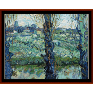 View of Arles, 1889 - Van Gogh cross stitch pattern by Cross Stitch Collectibles | Crafting | Cross-Stitch | Wall Hangings