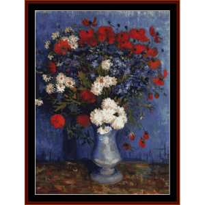 Vase with Cornflowers and Poppies - Van Gogh cross stitch pattern by Cross Stitch Collectibles | Crafting | Cross-Stitch | Other
